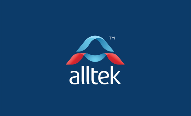 alltek logo on dark background