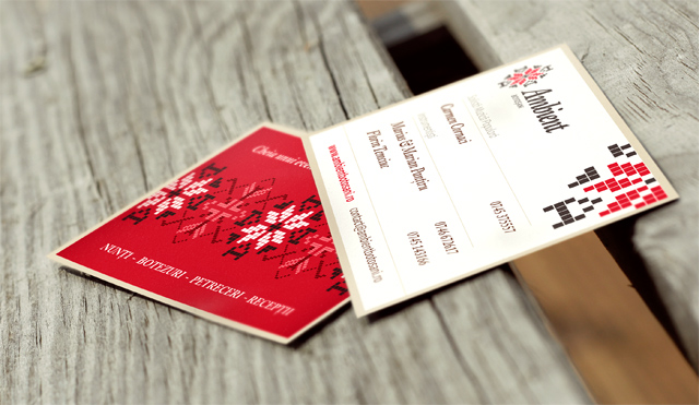 ambient two sided business card design