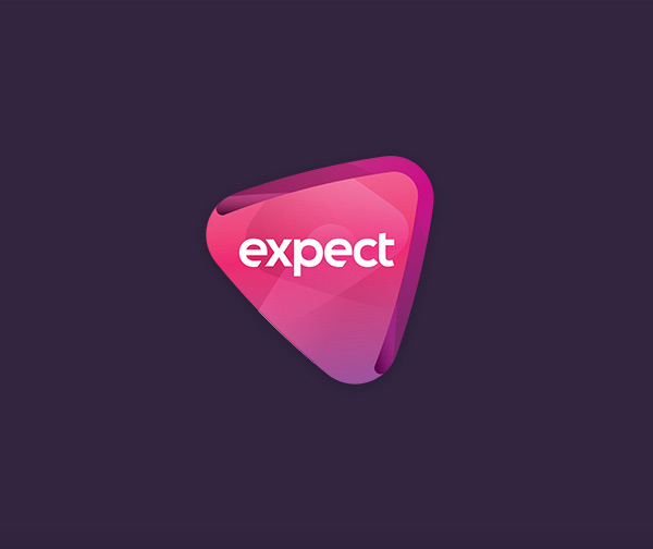 expect advertising logo