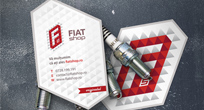 fiat shop logo and visual identity