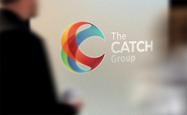 the catch group on frosted glass in office