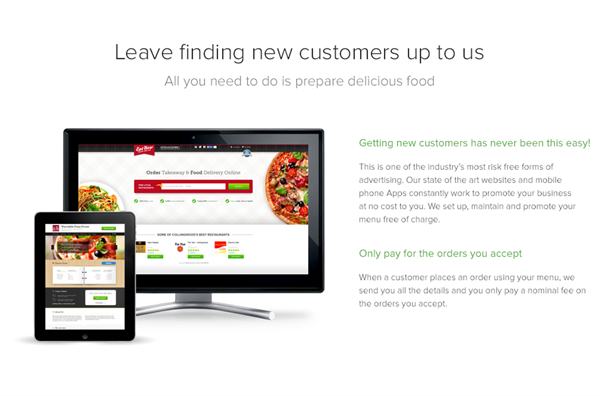 eatnow signup page