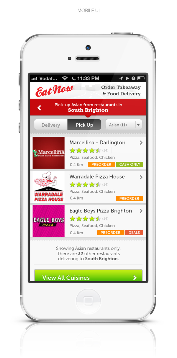 eatnow mobile and desktop website