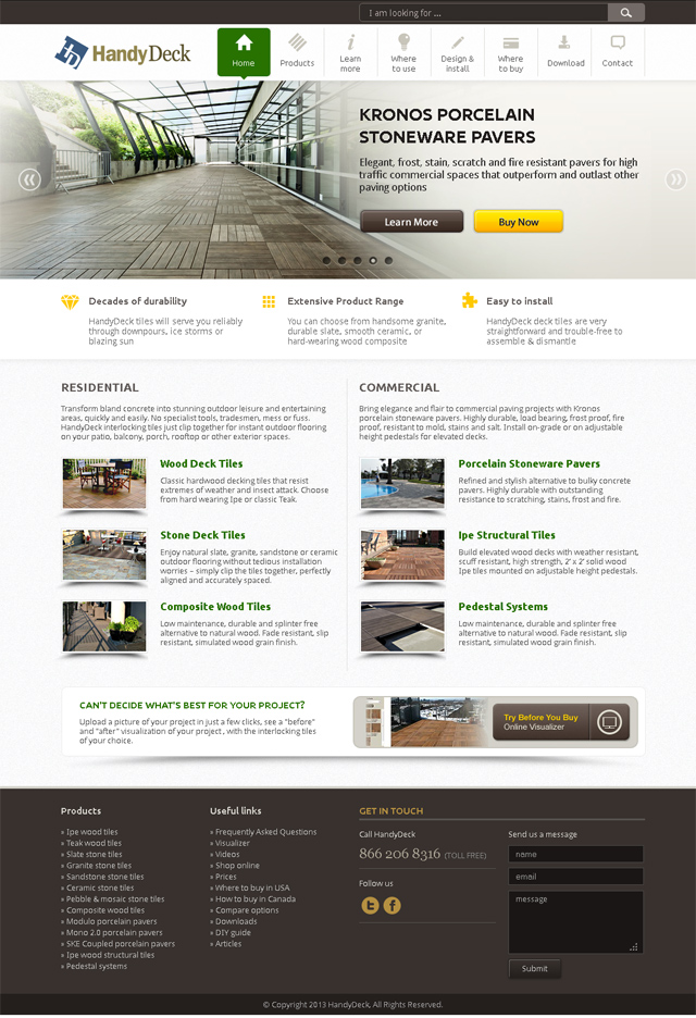 handydeck homepage