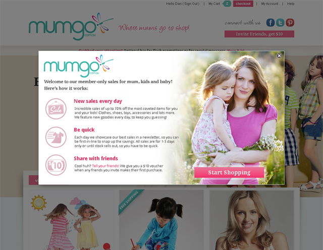 mumgo.com.au homepage screenshot